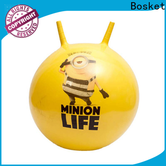 Top rubber bouncy ball with handle Suppliers for funning