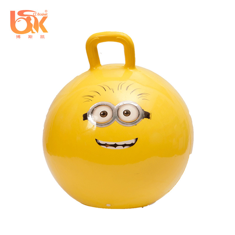 Bouncy Ball With Handle Cute Design for kids toddlers