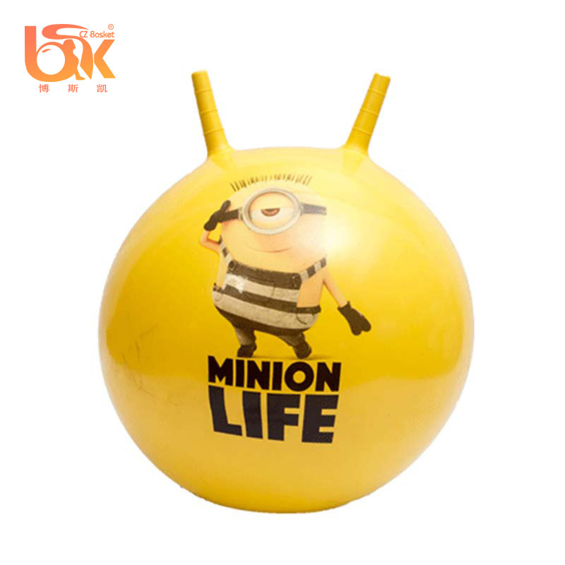 Eco-friendy PVC Inflatable Jumping Hopper Ball With Horn